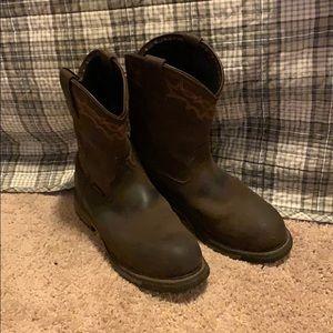 Arita steel toe slip on boots